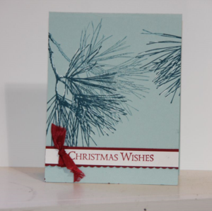 Ornamental Pine Simple Card Sample