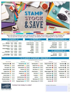 Stamp Stock and Save