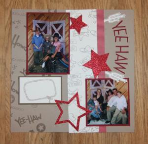 Yee-Haw Scrapbook Page