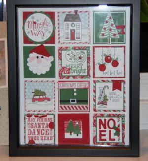 Christmas Collage Stamped Sampler