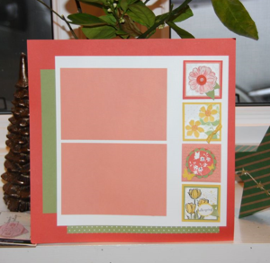 Spring Flowers Layout