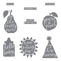 Silhouettes & Script Clear-Mount Stamp Set