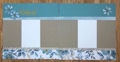 Garden in Bloom Scrapbook Layout