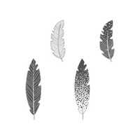 Four Feathers Clear-Mount Stamp Set