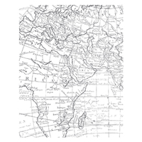 World Map Wood Stamp Set