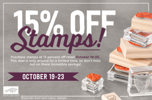 Discounted Stampin' Up! stamps