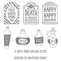 Sweet Hauntings Clear-Mount Stamp Set