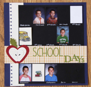 School Days Scrapbook Layout