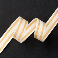 "Hello Honey 5/8"" Striped Cotton Ribbon"