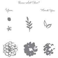 What I Love Photopolymer Stamp Set