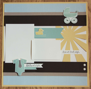 Something For Baby Scrapbook Layout