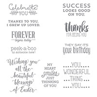 Suite Sayings Wood-Mount Stamp Set