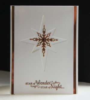 Religious Christmas Card - Star of Light