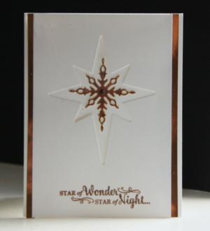 Religious Christmas Card - Star of Light