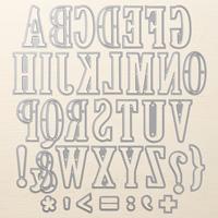 Large Letters Framelits Dies