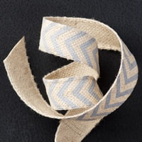 "Smoky Slate 5/8"" Chevron Ribbon"