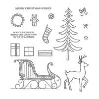 Santa's Sleigh Photopolymer Stamp Set