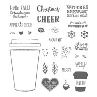 Merry Café Photopolymer Stamp Set