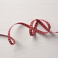 "Cherry Cobbler 1/4"" Double-Stitched Ribbon"