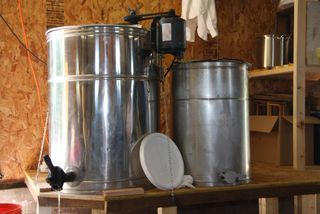 Extractor - it's a big centrifuge that spins the frames while heating them.