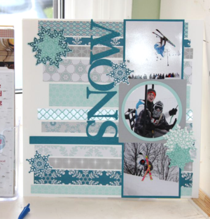Winter Frost Scrap Book Page