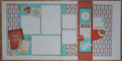 Retro Fresh Scrapbook Layout