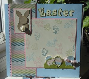 Easter Layout with Punch Art